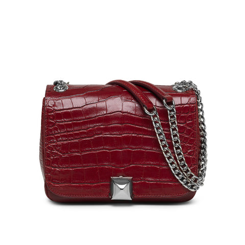 Danica red croco silver bag