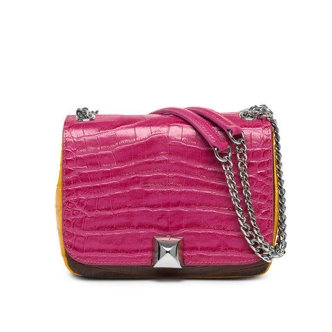 Danica tri color silver bag