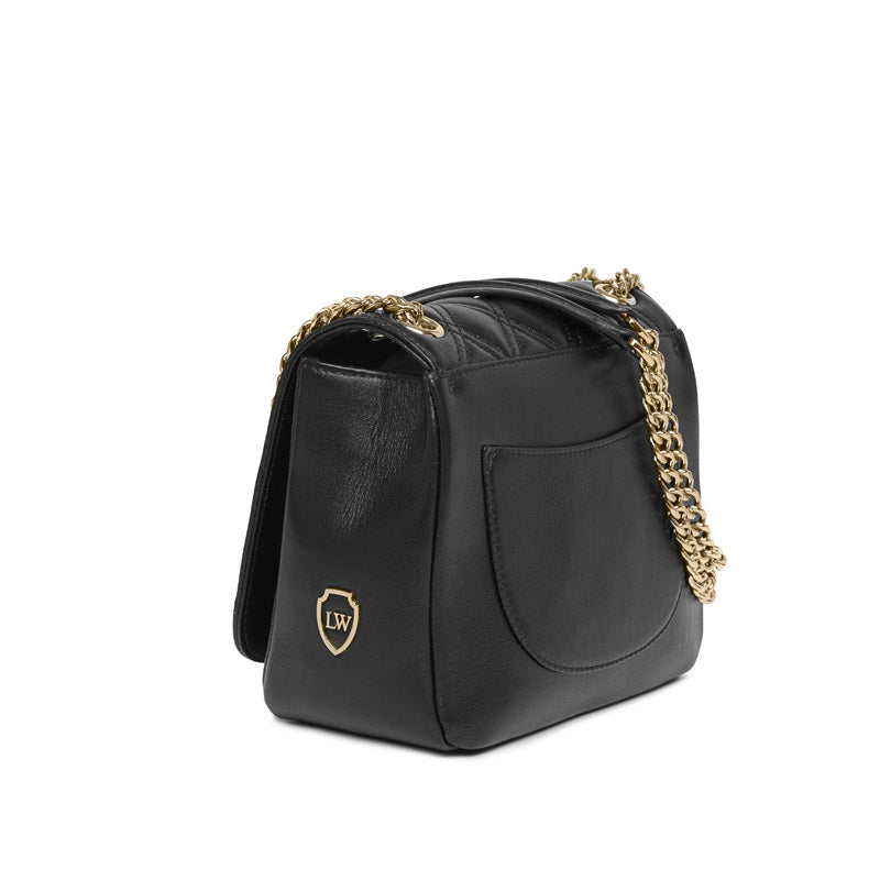 Daisy black gold bag - Leowulff