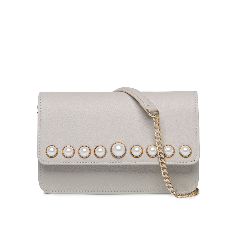 Dallas ivory gold bag