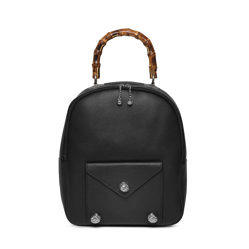 Fox leather backpack with Bamboo - Leowulff
