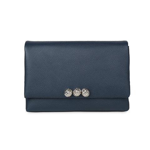 Dane blue medium leather bag