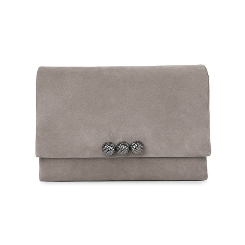 Dane taupe medium suede bag