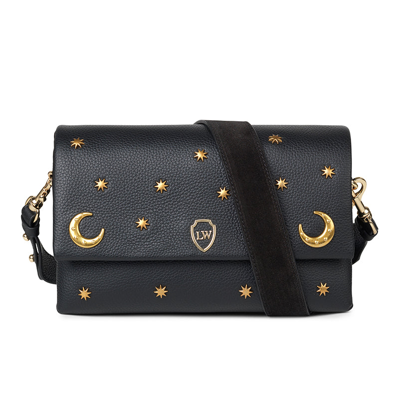 Moon black leather bag - Leowulff