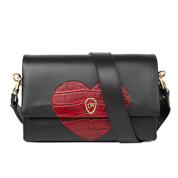 Hearty black red leather bag - Leowulff