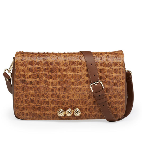 Harper cognac gold bag