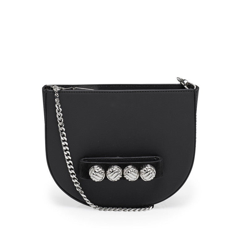 Hilma black silver bag
