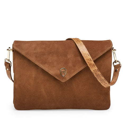 Hayley cognac gold bag