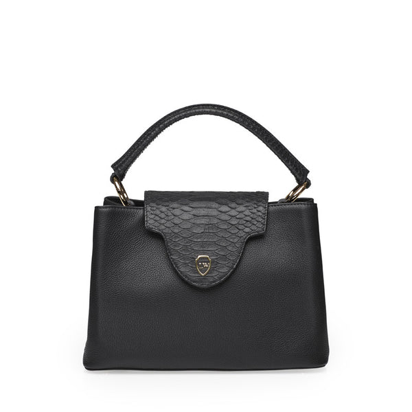 Marshal black gold bag - Leowulff