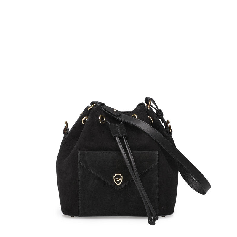 Morgan black gold bag - Leowulff