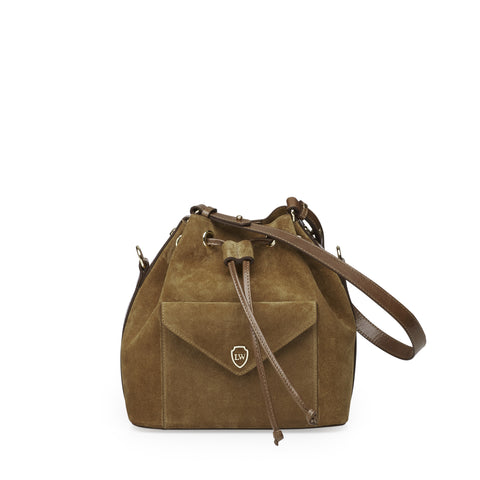 Morgan cognac gold bag