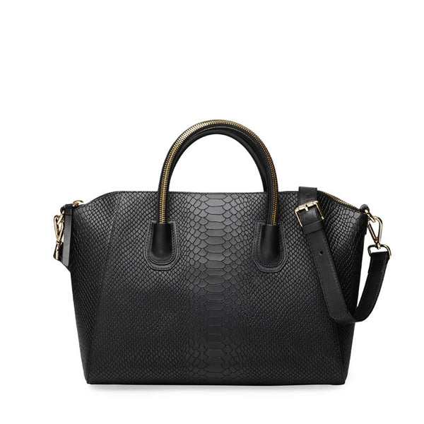 Anaconda black gold bag - Leowulff