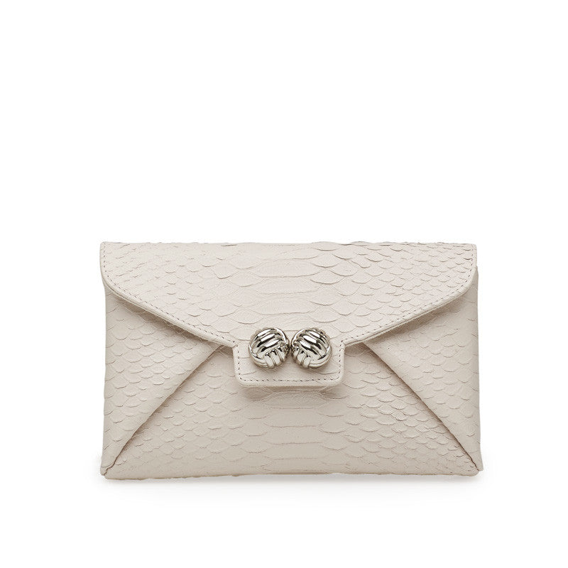 Mercer ivory silver clutch