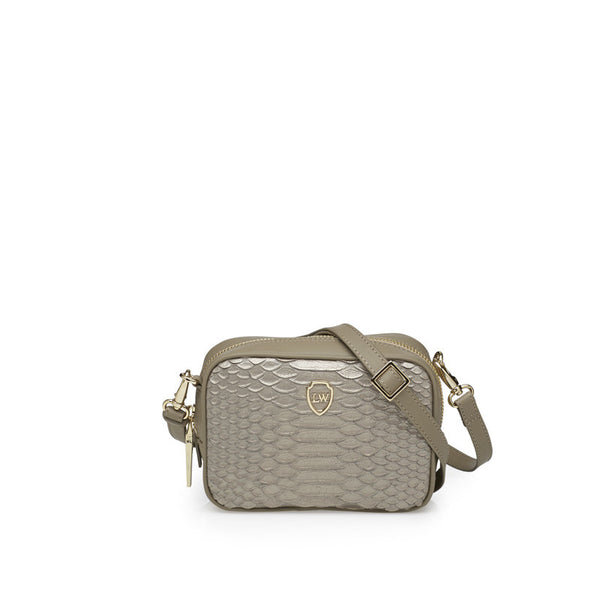 Milo anthracite gold mini bag