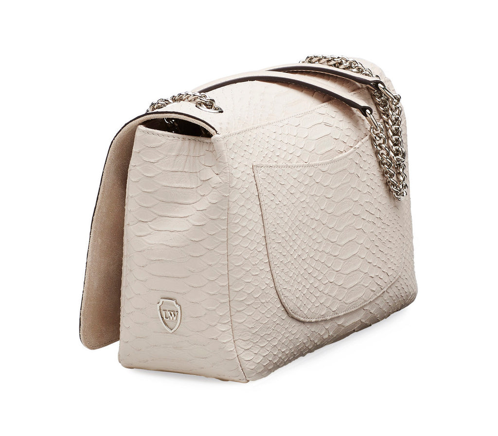 Maxfield ivory silver bag