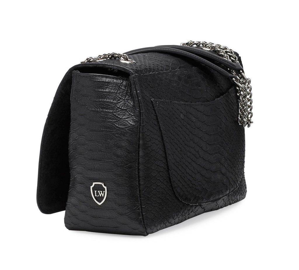 Maxfield black silver bag