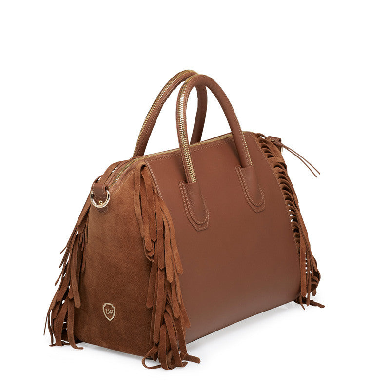 Holly taba/cognac gold bag - Leowulff