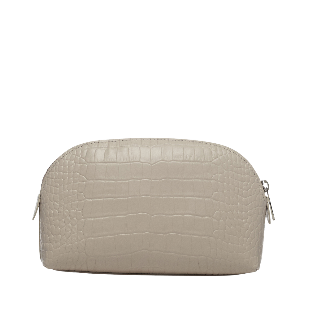 Sybil ivory silver make-up bag