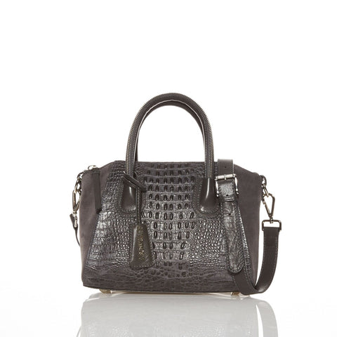 Caiman grey embossed bag