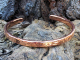 Forged Copper Cuff Bracelet (Ball Texture)