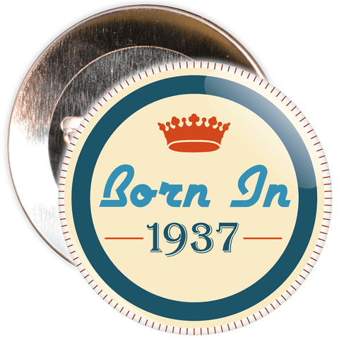 Born in 1937 Birthday Badge