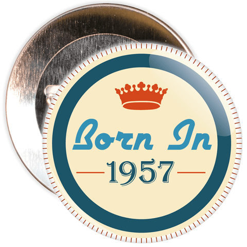 Born in 1957 Birthday Badge