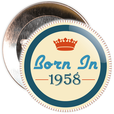 Born in 1958 Birthday Badge