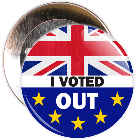 I Voted Out Brexit European Badge