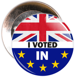 I Voted In Brexit European Badge
