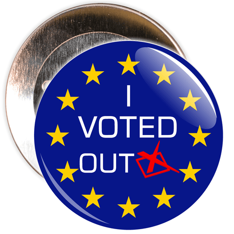 I Voted Out European Badge