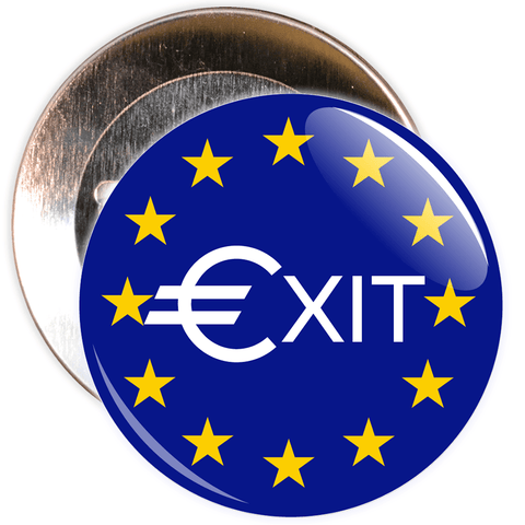 Exit Brexit European Badge