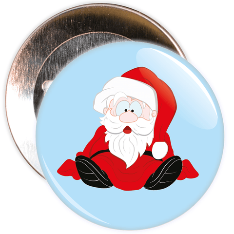 Blue Father Christmas / Santa Badge