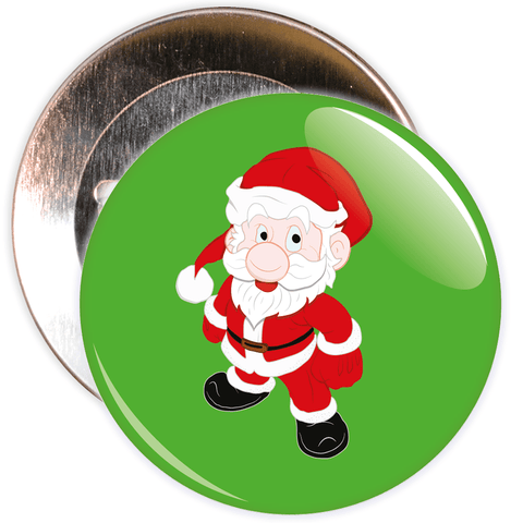 Green Father Christmas / Santa Badge