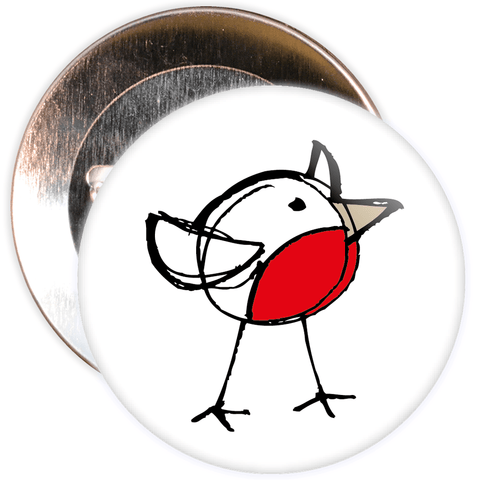Christmas Robin Badge