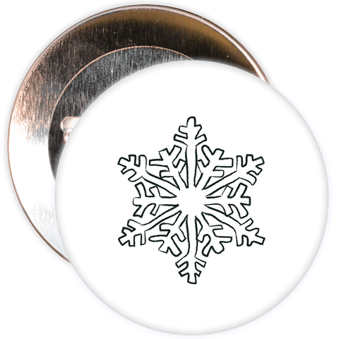Christmas Snowflake Badge