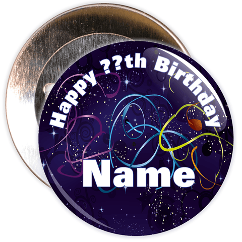 Customisable Birthday Badge