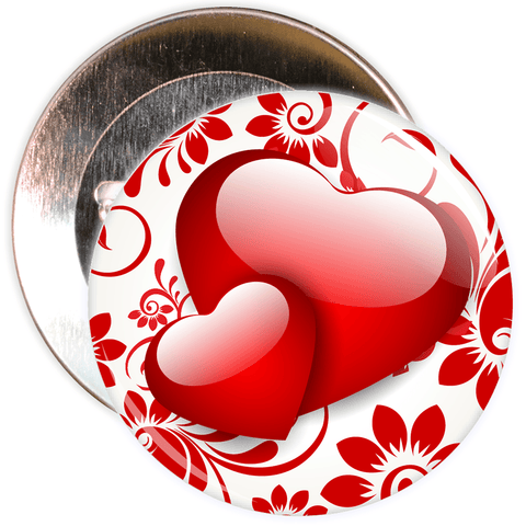 Heart Valentine's Day Badge