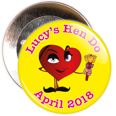 Customisable Emoticon Hen Party Badge