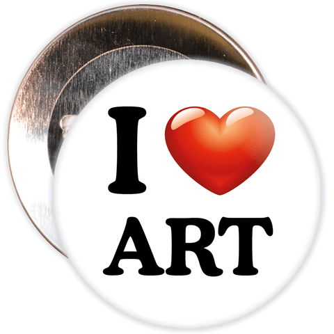 I Love Art Badge