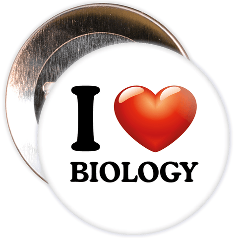 I Love Biology Badge
