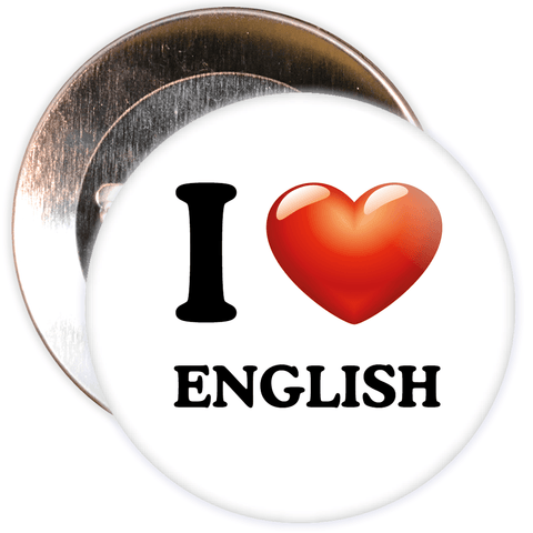 I Love English Badge