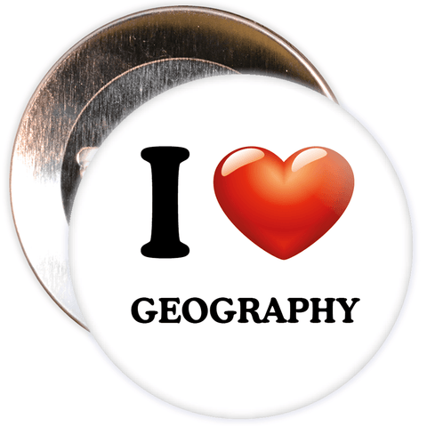 I Love Geography Badge