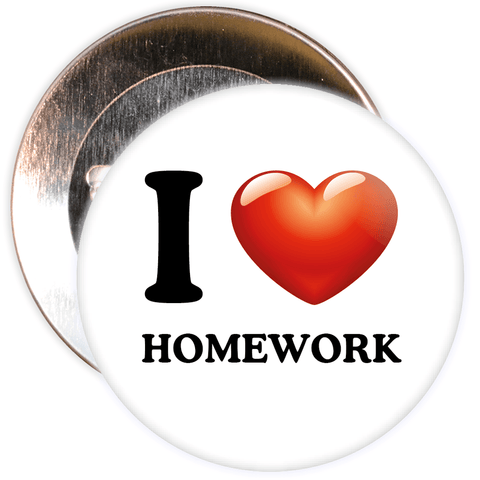 I Love Homework Badge
