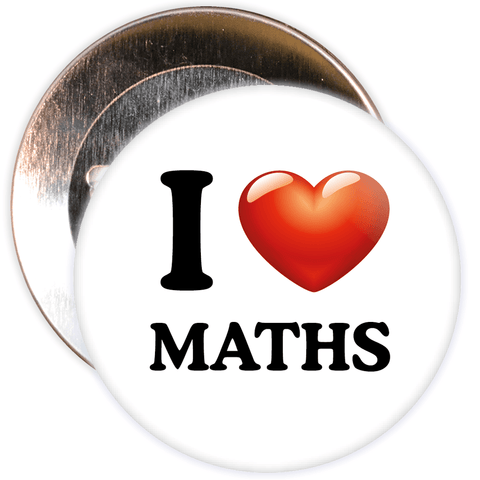 I Love Maths Badge