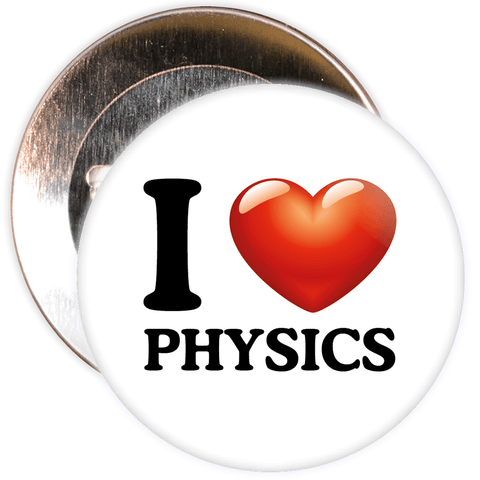 I Love Physics Badge