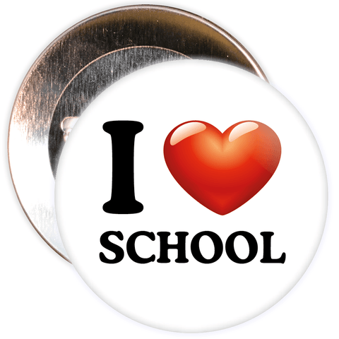 I Love School Badge