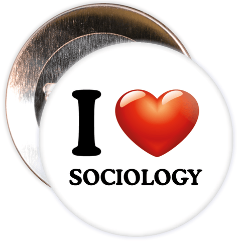 I Love Sociology Badge