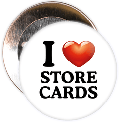 I Love Store Cards Badge