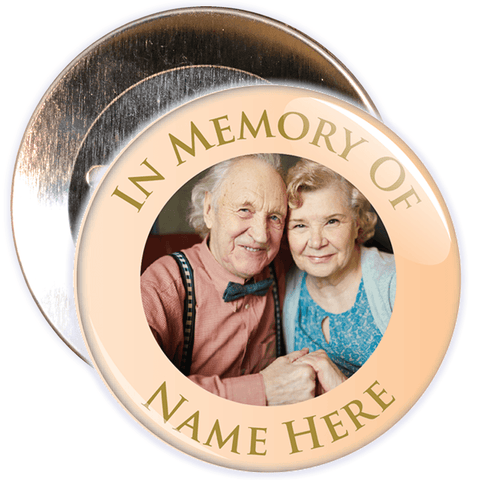 In Memory Of Photo Badge (gold)