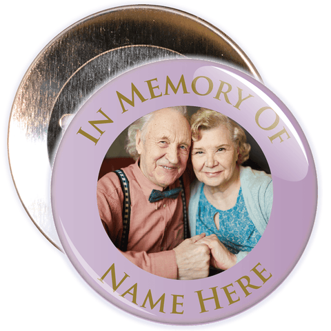 In Memory Of Photo Badge (pale lilac)